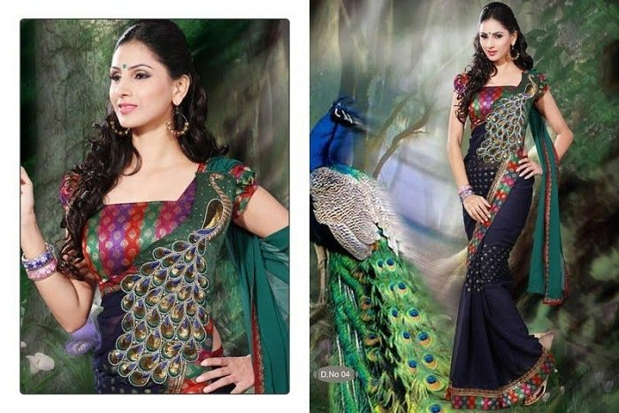 peacock motif fashion india