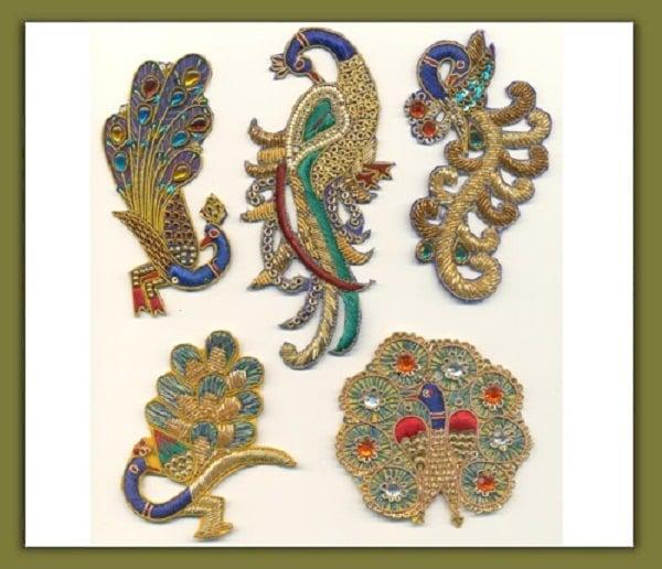 peacock motifs embroidery mughal era