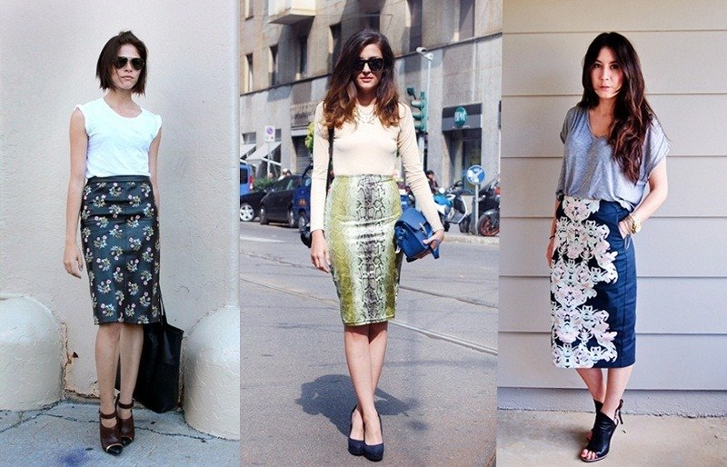 pencil skirt trend spring
