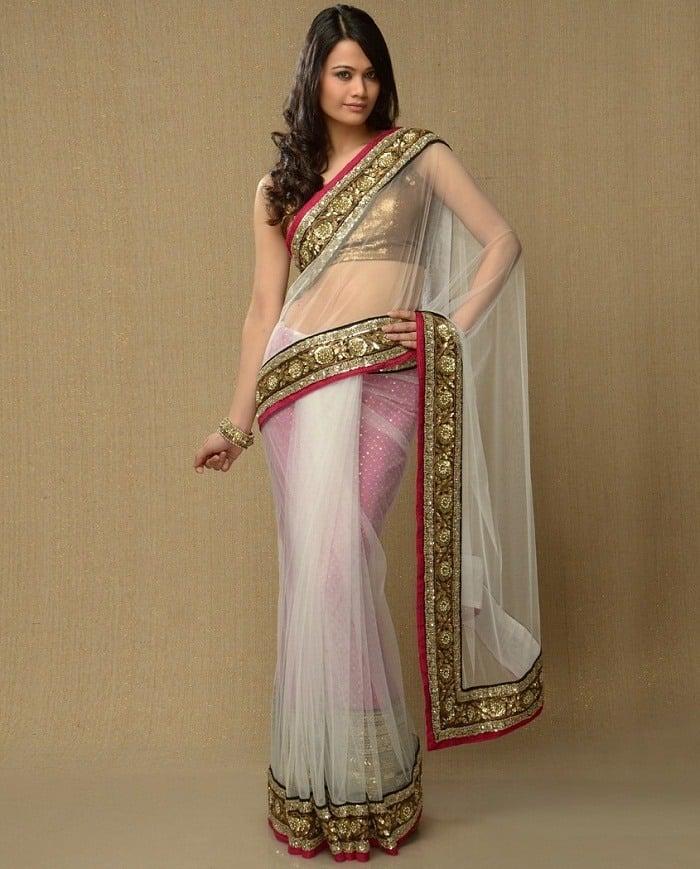 petticoat for net saree