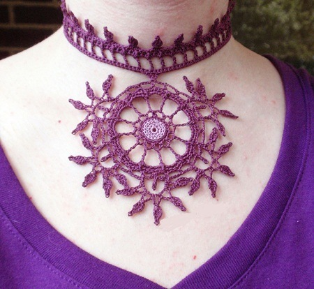 purple mehndi necklace