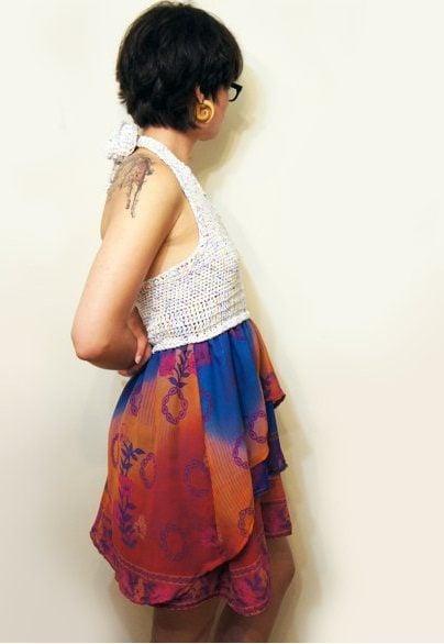 recycled saree fashion