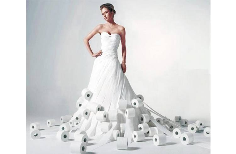Toilet roll dress