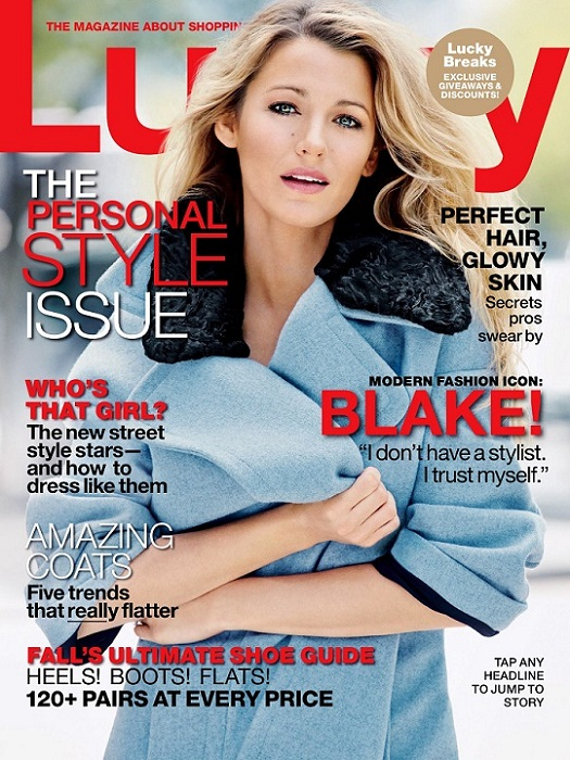Blake Lively Lucky September 2013 issue