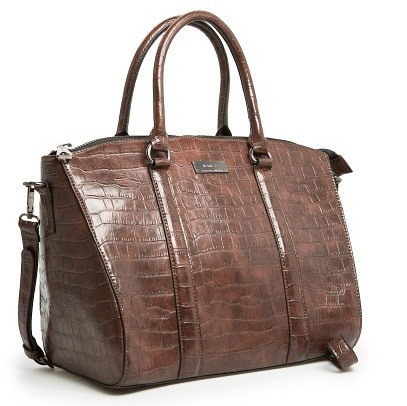 Croc Effect Tote Mango bag