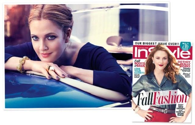 Drew Barrymore In Style September cover