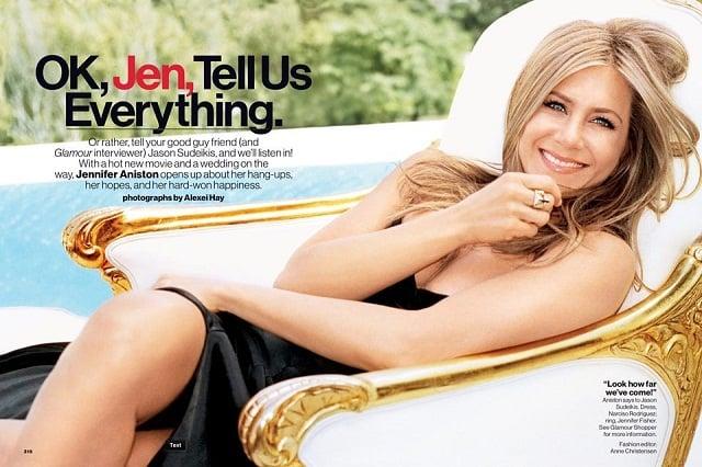 Jennifer Aniston Glamour September 2013 issue