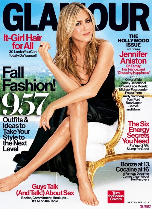 Jennifer Aniston Glamour September magazine cover
