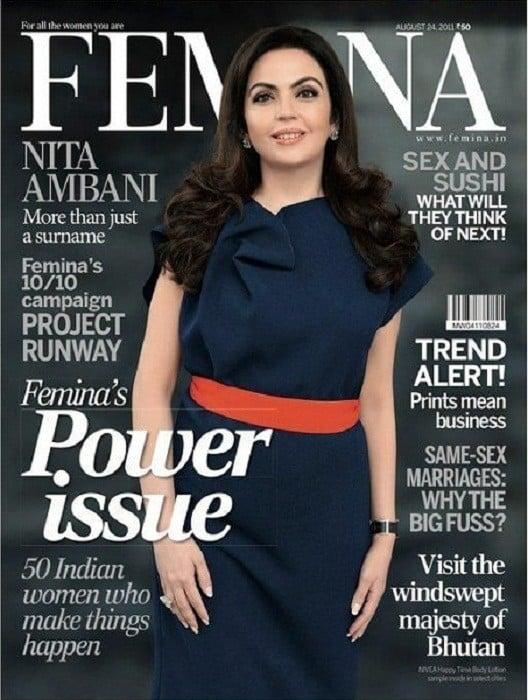 Nita Ambani Femina Magazine Cover