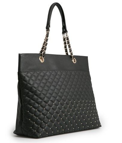 Studded Quilted Shopper Mango Bag
