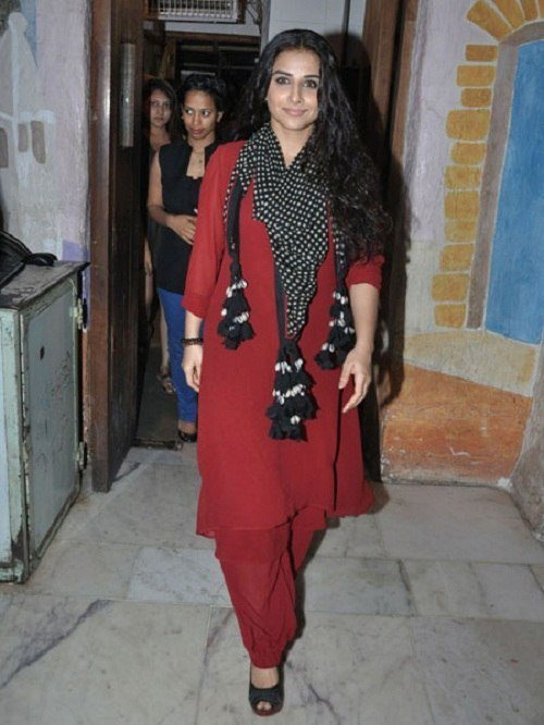 Vidya Balan red fashion disaster