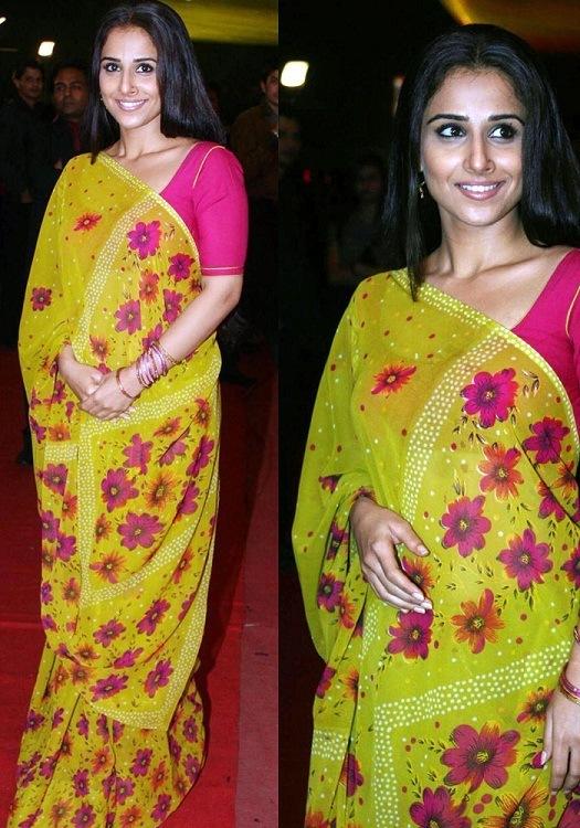 Vidya Balan yellow fashion