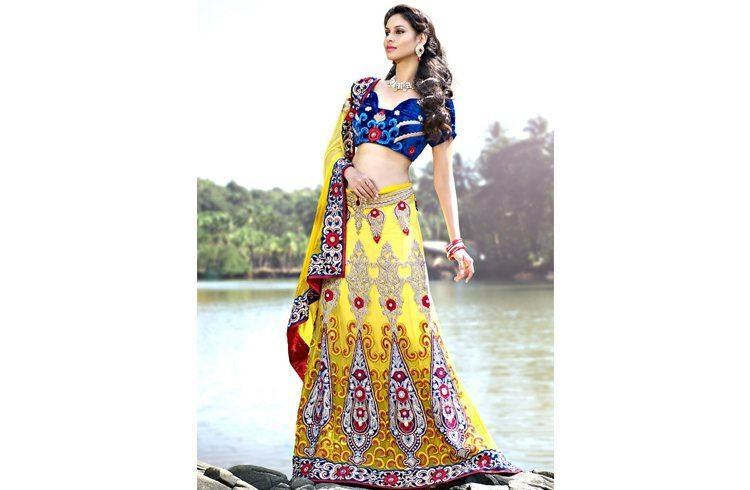 Fabric work lehenga