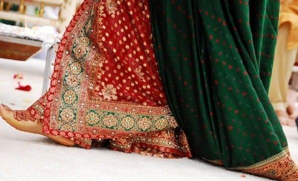 Gharchola Bridal Bandhani Saree