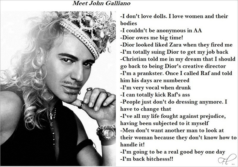 john galliano facts