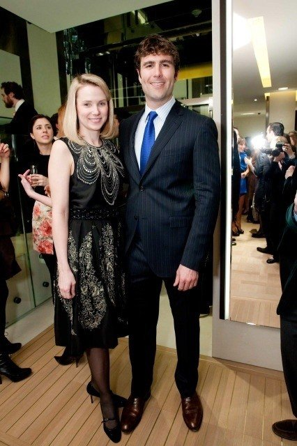 marissa mayer fashion with husband