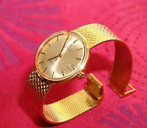 Marissa Mayer Gold Omega De Ville Watch