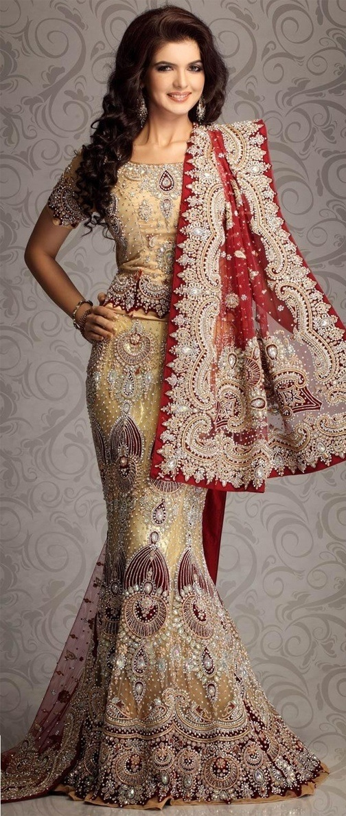 mermaid style fish cut lehenga