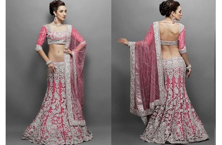 Pink lehenga design
