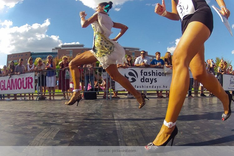 Best Way to Run in High Heels