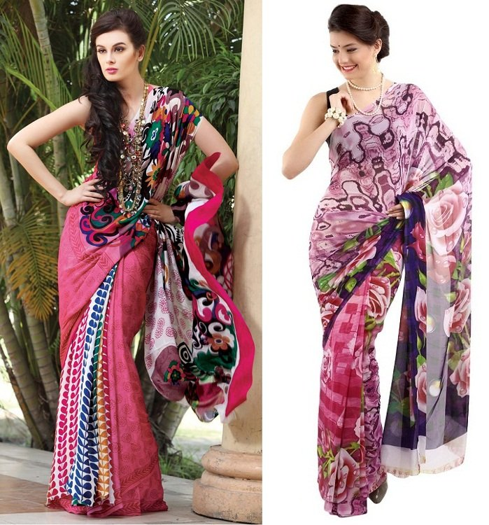 Digital Printed Sarees Styles