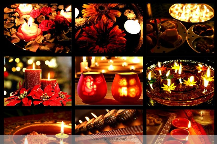 Designer terracotta diyas to catch fancy and woo buyers for Simple diwali home decorations