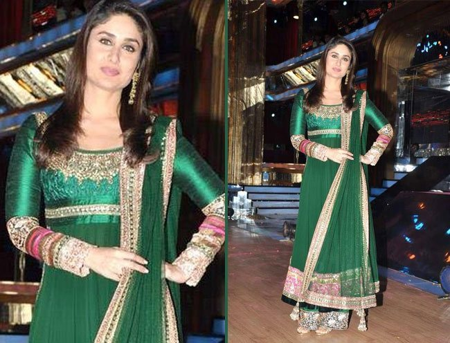 Kareena Kapoor in Green Salwar