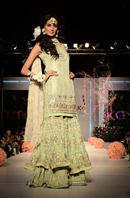 Pistachio Green Sharara with Kurti