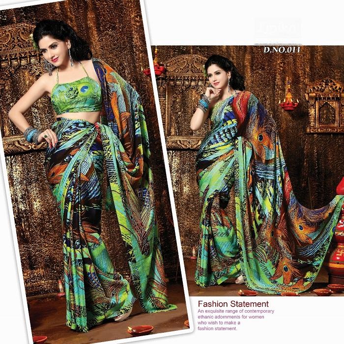 Popular Digital Printed Sarees
