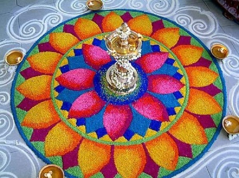 Popular diwali rangoli designs
