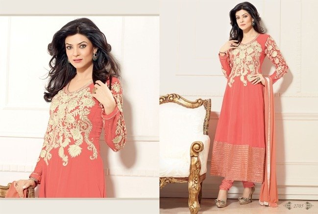 Sushmita Sen in Anarkali Dresses
