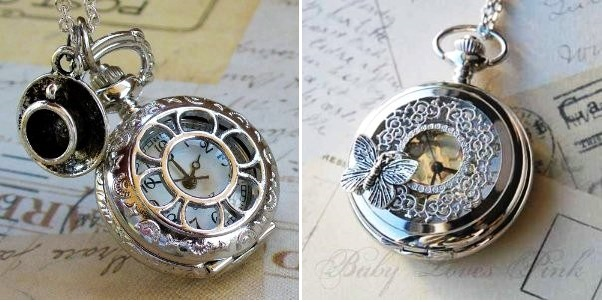 antique pocket watch with chain