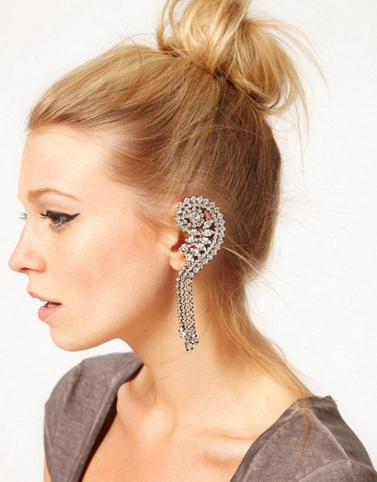 diamond ear cuffs
