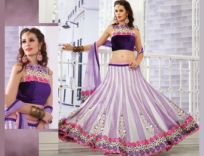 light purple lehenga