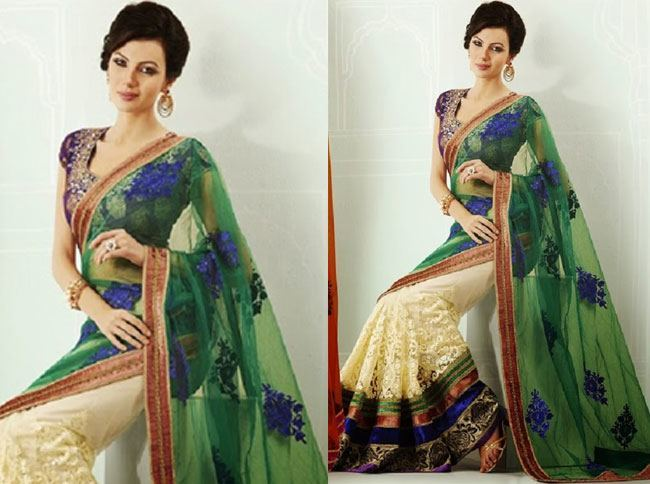 lovely peacock green anarkali