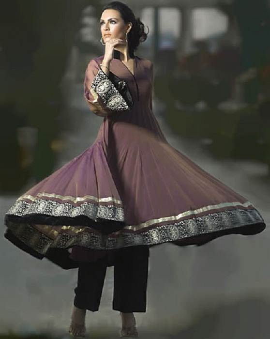 pakistani anarkali with pants