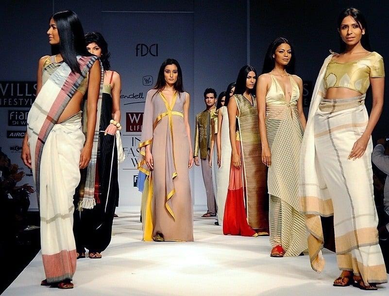 reinventing sari 6 yard drape