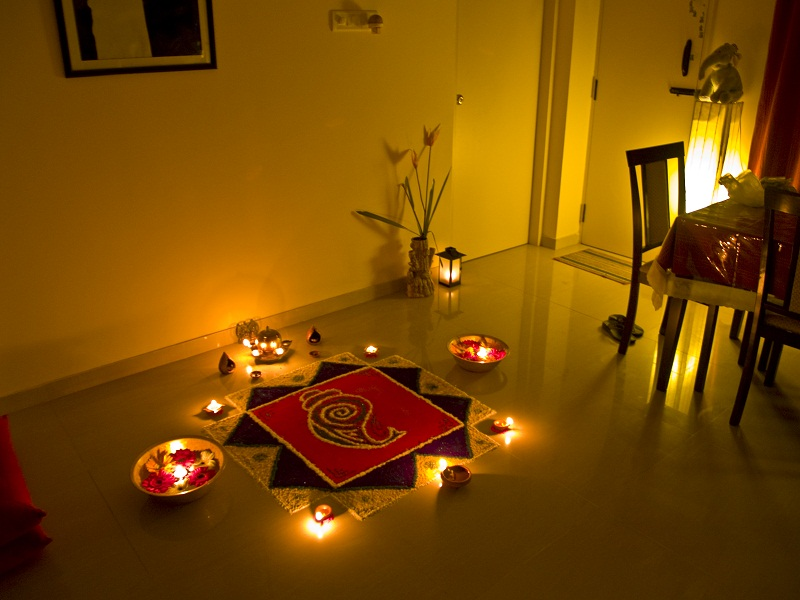 significance of rangoli in Diwali