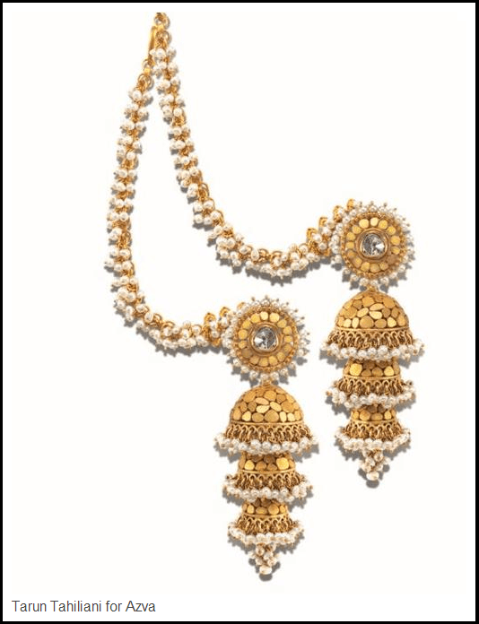 amrapali two bead gold necklace round silver plated layer