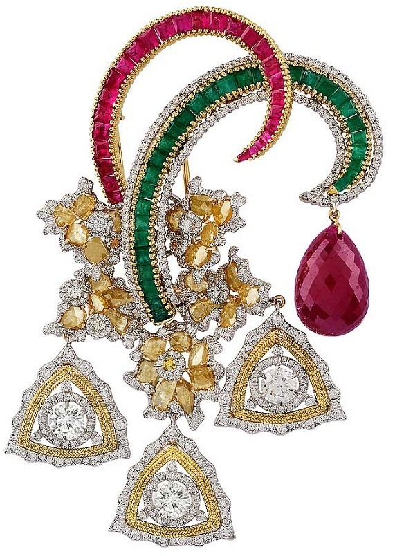Bina-Goenka-gold-diamond-brooch