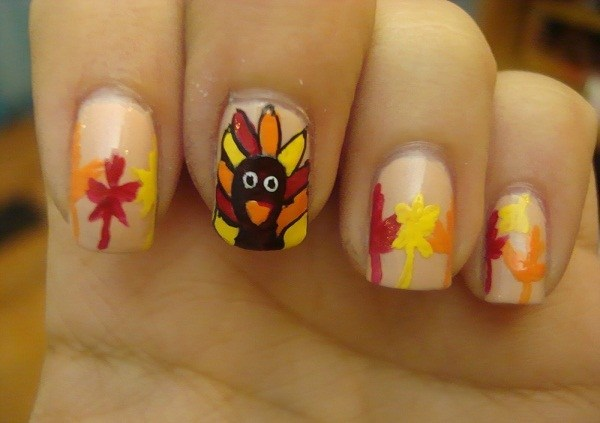 Thanksgiving nail art ideas for beginners nail art designs easy prinsesfo Gallery