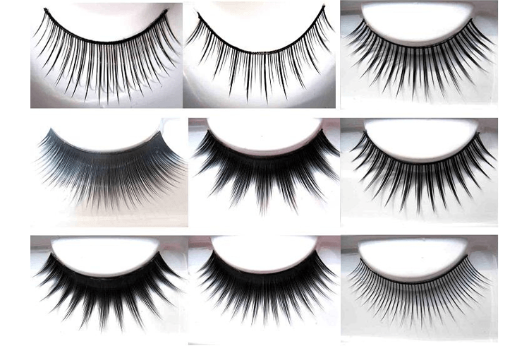 Different types of Fake Eye Lashes