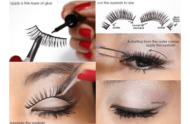 How to apply Fake Eye Lashes for the First Time