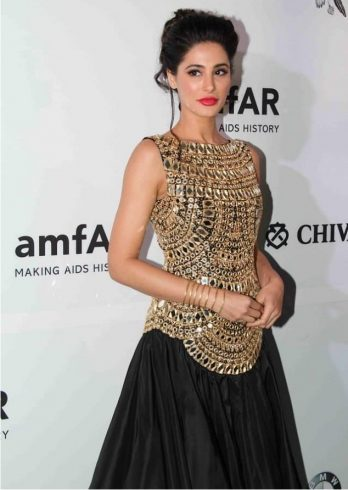 Nargis Fakhri in Abu Jani Sandeep Khsola at amfAR event