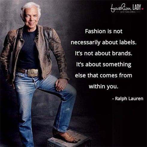 Ralph Lauren Fashion Quotes