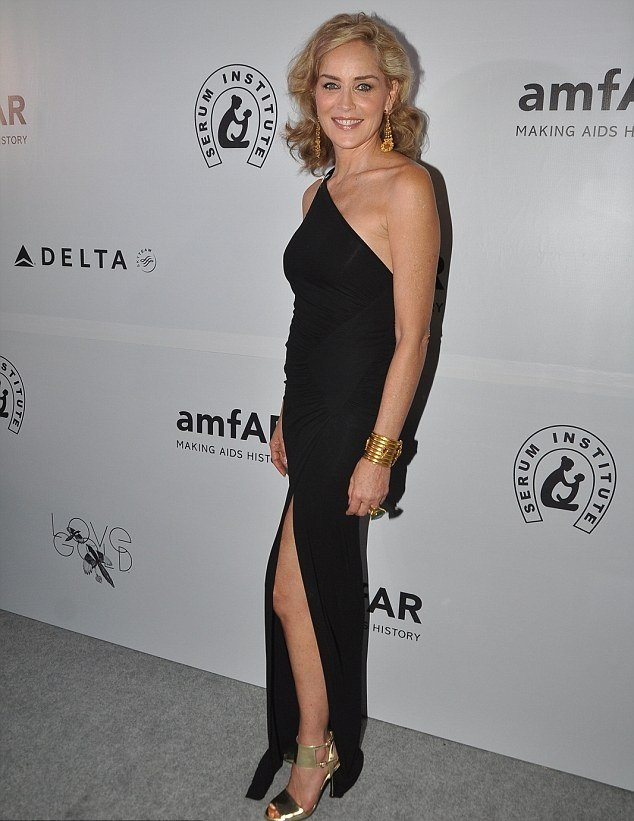 Sharon Stone at amfAR event Mumbai