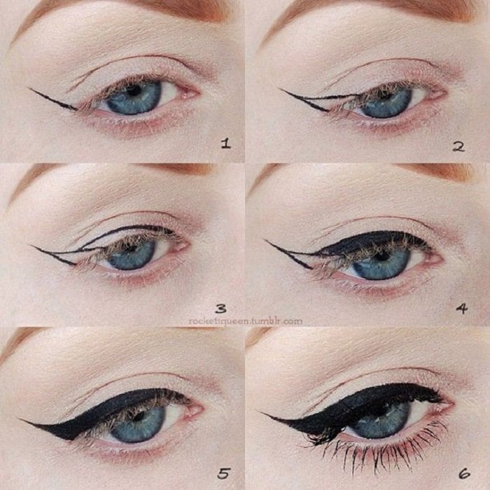 How To Draw A Cat Eye Eyeliner