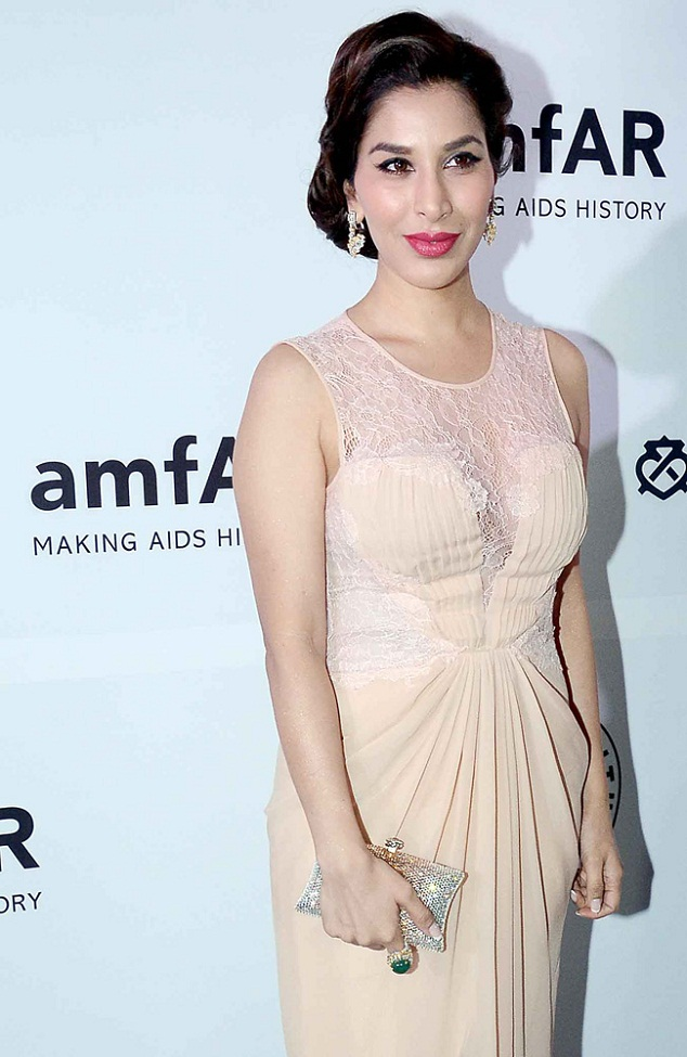 Sophie Choudhry at amfAR event mumbai