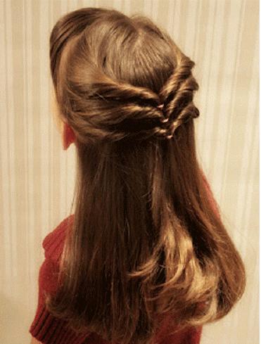 Triple Chevron Style Hairstyle