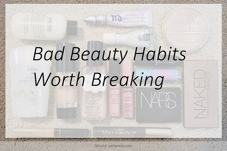 bad beauty habits you should break